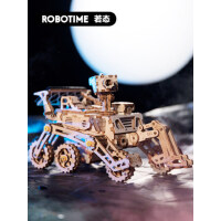 若态若客diy手工拼装月球车制作木质立体拼图玩具男孩女孩玩具