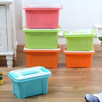 康丰 车载整理箱 11L 桌面收纳箱 有盖 收纳盒 塑料加厚 化妆品杂物盒 2262