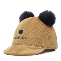 儿童棒球帽宝宝鸭舌帽翘舌帽男女童遮阳帽子 大球帽