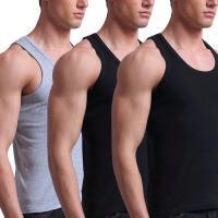 时尚潮流背心男士青年修身型运动白色汗衫跨栏打底工字透气夏季2018