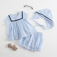 女童洋气公主短袖套装女宝宝夏装婴儿小童3新生儿纯棉衣服0-1岁潮