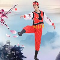 蒙古舞蹈服装演出服男女儿童长款西藏内蒙少数民族舞台表演服