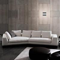 简约现代大气时尚北欧风情客厅布艺沙发沙发组合异型 组合[3.42米](左右贵妃备注)