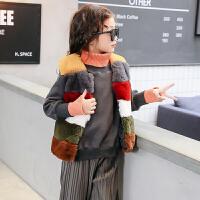 女童毛绒马甲2017秋冬装新款童装韩版儿童上衣加厚棉背心外套开衫