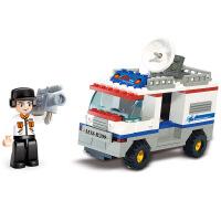 【当当自营】小鲁班模拟城市系列儿童益智拼装积木玩具 电视直播车M38-B200