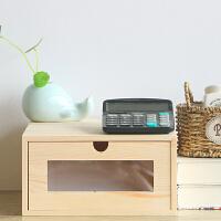 木制办公室桌面收纳盒抽屉式实木A4纸文件办公用品收纳储物资料盒