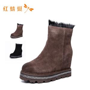 红蜻蜓2018新款时尚短靴女
