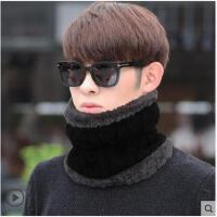 冬季骑行针织男士保暖围脖韩版潮户外毛线脖套男士加绒加厚套头帽