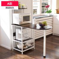 厨房置物架微波炉落地架厨房电器层架收纳储物架碗架烤箱调料家用