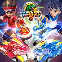 暴龙爆龙战车3心奇陀螺战车玩具男孩儿童新款星期新奇梦幻霸王龙三角龙