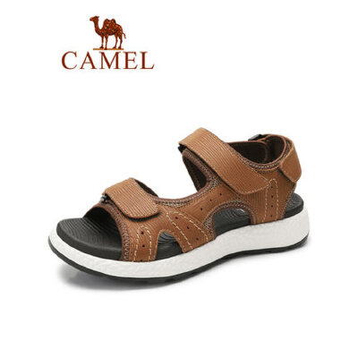 camel骆驼男鞋2019夏季新品沙滩鞋男潮流百搭户外耐磨运动真皮休闲凉鞋