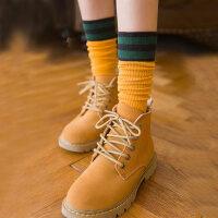 袜子女堆堆袜学生薄款长筒袜中筒袜韩版学院风复古棉袜