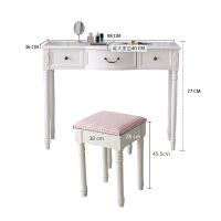 美式电脑桌台式家用田园书桌学习桌现代简约写字台办公桌白色 否