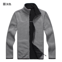 秋冬季户外抓绒衣男开衫保暖夹克保暖加绒外套有大码