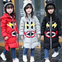 儿童女童宝宝羽绒服中长款冬装外套韩版加厚童装2018新款B920 CC