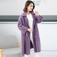秋冬女装新款2018韩版中长款针织开衫女外套外搭毛衣女