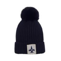 韩版男女宝宝套头帽户外儿童保暖毛线帽子小孩针织帽大毛球帽