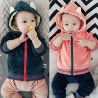新款婴儿冬季上衣宝宝加绒外套保暖外出服01岁3-5-6-9-12个月冬装