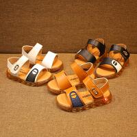 夏季儿童凉鞋男童亮灯鞋女童闪灯沙滩鞋1-3-5岁宝宝凉鞋