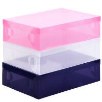 星空夏日 透明鞋盒 长靴盒收纳盒白色透明款2只装