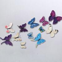 磁贴奶茶店墙饰蝴蝶冰箱贴客厅少女墙房间卧室墙面墙上装饰品