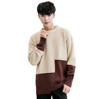 羊毛衫男薄款学生羊绒针织衫圆领秋季青少年毛衣男士韩版毛线衣潮