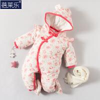 婴儿连体衣服新生儿衣服冬季0岁3月冬装冬季棉衣满月外出服