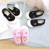 儿童帆布鞋宝宝鞋子1-3岁2男童女童潮幼儿园室内鞋公主鞋小布鞋