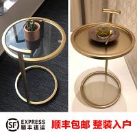 北欧家具铁艺边几金色边桌沙发边角几简约现代金属圆桌小户型茶几