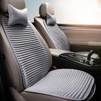 汽车坐垫小蛮腰单个主驾驶亚麻透气夏季座椅套四季通用半包车座垫