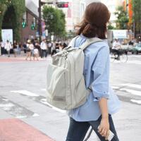 旅行包多功能大学生书包时尚旅游包背包防水大容量电脑包双肩包女 灰色 可装15.6寸笔记本