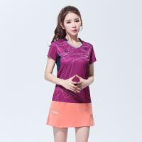 2018韩国新款yy羽毛球服套装女款运动比赛速干队服短袖定制男夏季