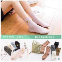袜子女夏季中筒袜爱心纯棉女袜可爱韩版女棉袜学院风日系全棉女袜
