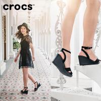 【节日钜惠】Crocs女鞋卡洛驰女坡跟脚腕绊带针扣高跟凉鞋|11382 蕾丽高跟鞋