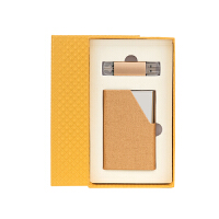 【全场包邮 限时5折】物有物语 便携名片盒 定制款商务男女士随身名片夹册包大容量名片收集盒u盘名片盒两件套