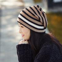 女士帽子女百搭时尚套头针织帽韩版潮保暖毛线帽