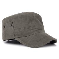 新款秋冬季休闲太阳帽户外鸭舌帽遮阳平顶帽韩版男士军帽