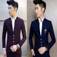 闲西服套装男青年套发型师三件套修身小西装韩版潮流外套