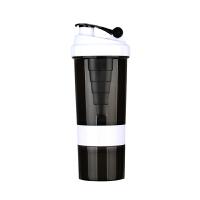 蛋白粉摇摇杯大容量男士塑料杯健身奶昔运动水杯果汁三层便携杯子带刻度奶茶杯搅拌杯
