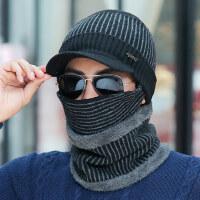 帽子男保暖男士毛线帽户外青年骑行针织帽防寒套头棉帽
