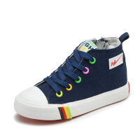 高帮儿童帆布鞋春季男童女童布鞋学生板鞋休闲鞋
