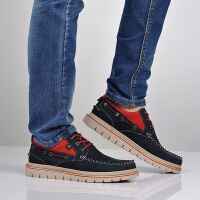 西瑞男士头层牛皮休闲鞋男鞋韩版低帮潮流厚底增高真皮鞋板鞋单鞋6257