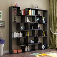 简约组合书柜创意转角书架卧室落地简易置物架隔断展示柜格子柜