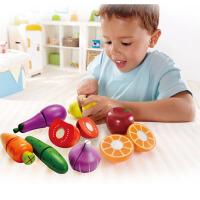Hape水果蔬菜组合套3-6岁切切乐厨房食物婴幼玩具过家家玩具益智仿真E8019