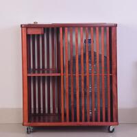 木移动茶柜实木中式简约现代家用茶盘茶水柜电磁炉多功能套装 木茶水柜大