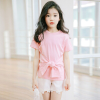 7女童短袖t恤夏装2018新款中童纯棉夏季韩版公主上衣中大童9周岁