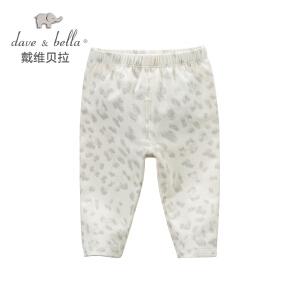 davebella戴维贝拉女童春秋季豹纹裤子 宝宝长裤DB5294