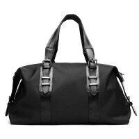 12新款短途手提旅行包男士商务出差包行李包防水折叠行李袋旅游包旅行袋 全黑色(领5元优惠��) 中