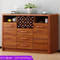 欧式家具餐边柜实木 酒柜 玄关大容量碗柜储物柜现代中式简约橱柜 如图所示 双门