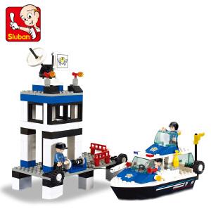 【当当自营】小鲁班模拟城市系列儿童益智拼装积木玩具 海事拯救队M38-B1200